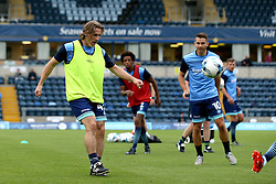 Wycombe Wanderers manager Gareth Ainsworth takes part in his sides warm up - Mandatory by-line: Robbie Stephenson/JMP - 09/08/2016 - FOOTBALL - Adams Park - High Wycombe, England - Wycombe Wanderers v Bristol City - EFL League Cup