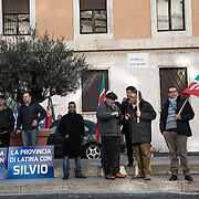 8 December, Rome: people of Forza Italia in front of Auditorium, waiting for Berlusconi and the party convention