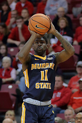 "09 December 2017:  Leroy ""Shaq"" Buchanan during a College mens basketball game between the Murray State Racers and Illinois State Redbirds in  Redbird Arena, Normal IL"