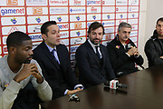 DESCRIZIONE : Roma Lega A conferenza stampa Acea Roma Seat Stemacwagen<br /> GIOCATORE : Marco Calvani Bobby Jones Maurizio Celon Olek Czyz Nicola Alberani<br /> SQUADRA : Acea Roma<br /> CATEGORIA : curiosita ritratto conferenza<br /> EVENTO : Lega A 2012 2013<br /> GARA : conferenza stampa<br /> DATA : 07/12/2012<br /> SPORT : Pallacanestro<br /> AUTORE : Agenzia Ciamillo-Castoria/M.Simoni<br /> Galleria : Lega A 2012-2013<br /> Fotonotizia :  Roma Lega A conferenza stampa Acea Roma Seat Stemacwagen<br /> Predefinita :