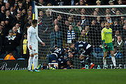 Millwall celebrate as Millwall Forward Lee Gregory scores a goal 0-2 during the EFL Sky Bet Championship match between Leeds United and Millwall at Elland Road, Leeds, England on 20 January 2018. Photo by Craig Zadoroznyj.