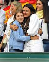 Tennis - 2019 Wimbledon Championships - Week Two, Friday (Day Eleven)<br /> <br /> Men's Singles, Semi-Final: Novak Djokovic (SRB) vs. Roberto Bautista Agut (ESP)<br /> <br /> Roberto Bautista Agut's fiancee, Ana Bodi Tortosa shows her emotions after winning the second set, on Centre Court.<br /> <br /> COLORSPORT/ANDREW COWIE