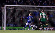 Sam Clucas breaks the deadlock in extra time to give Chesterfiled a 1-0 lead during the The FA Cup match between Chesterfield and Scunthorpe United at the b2net stadium, Chesterfield, England on 13 January 2015. Photo by Simon Kimber.