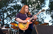 Manchester, TN.  2003 Bonnaroo Music Festival. Warren Haynes plays with moe. at Bonnaroo 2004. Mandatory Credit: Bryan Rinnert/3Sight Photography..
