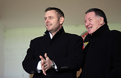 Peterborough United chairman Darragh MacAnthony (left) with chief executive Bob Symns in the stands - Mandatory byline: Joe Dent/JMP - 07966 386802 - 28/12/2015 - FOOTBALL - Banks' Stadium - Walsall, England - Walsall v Peterborough United - Sky Bet League One