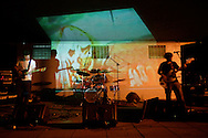 The Louisville experimental metal band, Scaramonga, now defunct, plays during the Forecastle Festival in Louisville, Kentucky in 2004.