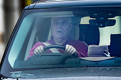 © Licensed to London News Pictures. 15/08/2020. London, UK. PRINCE ANDREW drives from Windsor Castle. Photo credit: Peter Macdiarmid/LNP