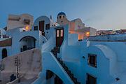 White buildings of Santorini island