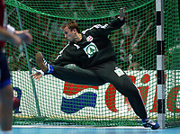 Håndball, 02.juni 2002. Landskamp Norge - Jugoslava (Yugoslavia). Målvakt Steinar Ege, Norge.