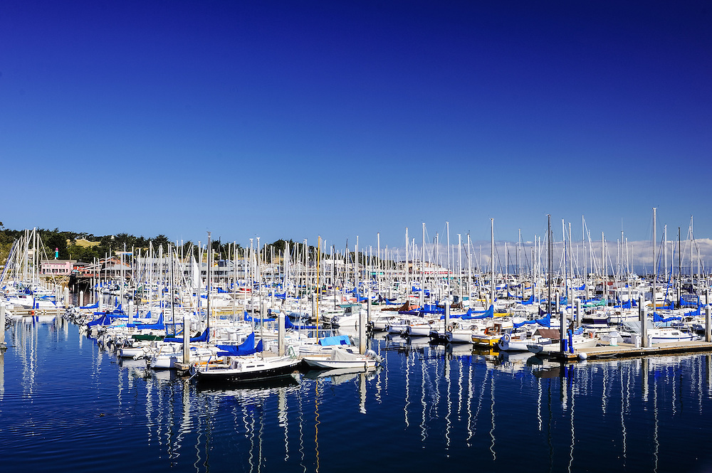 Monterey, California, Harbor, Yacht and fishing boats,  Monterey Bay