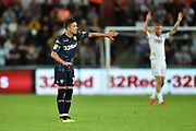 Pablo Hernandez (19) of Leeds United during the EFL Sky Bet Championship match between Swansea City and Leeds United at the Liberty Stadium, Swansea, Wales on 21 August 2018.