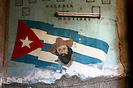 Wall by the stairs to Paladar La Guarida in Havana Centro, Cuba.