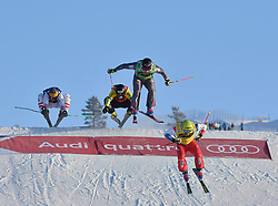 13.01.2018, Idre Fjall, Idre, SWE, FIS Weltcup Ski Cross, Idre Fjall, im Bild Victor VÖN Öhling Norberg, sju på Idre Fjäll // during the FIS Ski Cross World Cup at the Idre Fjall in Idre, Sweden on 2018/01/13. EXPA Pictures © 2018, PhotoCredit: EXPA/ Nisse Schmidt<br /> <br /> *****ATTENTION - OUT of SWE*****