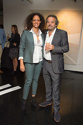 MARK HIX and REBECCA LIDERT Director of CNB Gallery at the Hix Award 2016 held at Unit London, 147 Wardour Street, Soho, London on 5th September 2016.