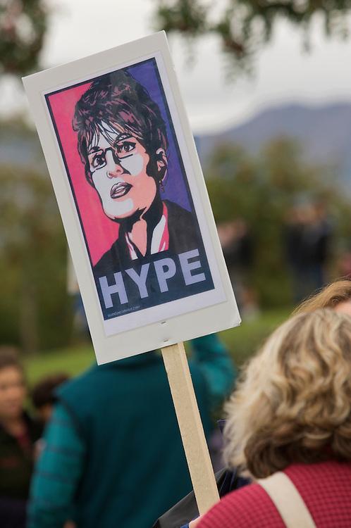 Anti-Sarah Palin/Pro-Obama Ralley, Anchorage, Alaska, September 13, 2008