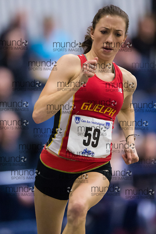 Heather Rayner of the University of Guelph  competes at the 2014 CanAm Track and Field meet in Windsor Ontario, Saturday,  January 11, 2014.<br /> Mundo Sport Images/ Geoff Robins