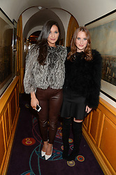 Left to right, ROXIE NAFOUSI and ROSIE FORTESCUE from reality TV's Made in Chelsea at Tatler Magazine's Little Black Book Party held at Annabel's, Berkeley Square, London on 5th November 2013.