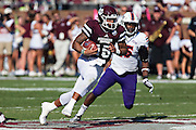 STARKVILLE, MS - SEPTEMBER 19:  Dak Prescott #15 of the Mississippi State Bulldogs runs the ball against the Northwestern State Demons at Davis Wade Stadium on September 19, 2015 in Starkville, Mississippi.  The Bulldogs defeated the Demons 62-13.  (Photo by Wesley Hitt/Getty Images) *** Local Caption *** Dak Prescott