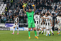can - 14.03.2017 - Torino - Champions League Quarti di Finale  -  Juventus-Barcellona nella  foto: Gianluigi Buffon esulta a fine partita