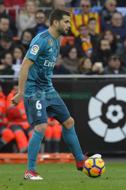 January 27, 2018 - Valencia, Spain - Nacho during the match between Valencia CF against Real Madrd, week 21 of La Liga 2017/187 at Mestala stadium, Valencia, SPAIN - 27th January of 2018. (Credit Image: © Jose Breton/NurPhoto via ZUMA Press)