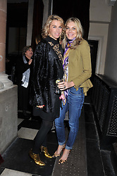 Left to right, ASSIA WEBSTER and KIM HERSOV at a fashion show featuring designs from Celia Kritharioti Spring/Summer 2012 collection held at One Mayfair, London on 20th March 2012.