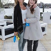 NLD/Amsterdam/20120419 - Lancering Moet Ice Imperial, Kim Kotter en vriendin