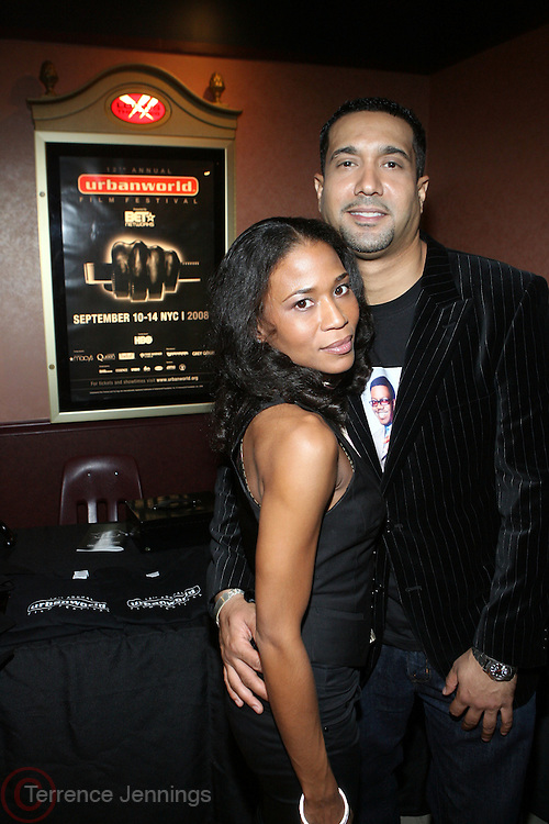 "l to r; Donna Brown and Nasser Metclaife at the 12th Annual  Urbanworld Film Festival screening of ""Tennessee""  held in NYC at the AMC Loews Theater on September 12, 2008..The Urbanworld  Film Festival is dedicated to showcasing the best of urban independent film.."