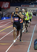Feb 9, 2019; New York, NY, USA; Donavan Brazier places second in the 800m in an American record 1:44.41 during the 112th Millrose Games at The Armory.
