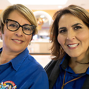 MIAMI, FLORIDA, NOVEMBER 16, 2016<br /> Mercedes Cabrera, left, and Odalys Arevalo, owners of  Sunshine Health and Life Advisors,  inside the Mall of the Americas in Miami Dade County.<br /> (Photo by Angel Valentin/Freelance)