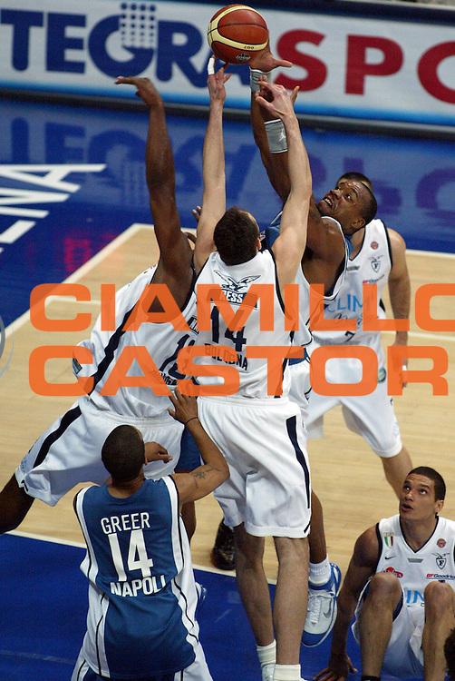 DESCRIZIONE : Bologna Lega A1 2005-06 Play Off Semifinale Gara 3 Climamio Fortitudo Bologna Carpisa Napoli<br /> GIOCATORE : Hunter Bagaric<br /> SQUADRA : Carpisa Napoli Climamio Fortitudo Bologna<br /> EVENTO : Campionato Lega A1 2005-2006 Play Off Semifinale Gara 3<br /> GARA : Climamio Fortitudo Bologna Carpisa Napoli<br /> DATA : 07/06/2006 <br /> CATEGORIA : Penetrazione Tiro Difesa<br /> SPORT : Pallacanestro <br /> AUTORE : Agenzia Ciamillo-Castoria/M.Minarelli<br /> Galleria : Lega Basket A1 2005-2006 <br /> Fotonotizia : Bologna Campionato Italiano Lega A1 2005-2006 Play Off Semifinale Gara 3 Climamio Fortitudo Bologna Carpisa Napoli<br /> Predefinita :