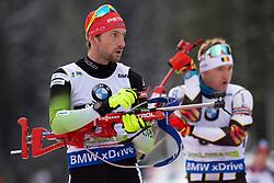 Jakov Fak (SLO) in action during the Pursuit Men 12,5 km at day 8 of IBU Biathlon World Cup 2018/19 Pokljuka, on December 9, 2018 in Rudno polje, Pokljuka, Pokljuka, Slovenia. Photo by Urban Urbanc / Sportida
