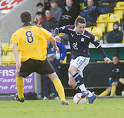 Dundee's Ryan Conroy takes on Livingston's Liam Fox - Livingston v Dundee, IRN BRU Scottish Football League, First Division - ..© David Young - .5 Foundry Place - .Monifieth - .Angus - .DD5 4BB - .Tel: 07765 252616 - .email: davidyoungphoto@gmail.com.web: www.davidyoungphoto.co.uk