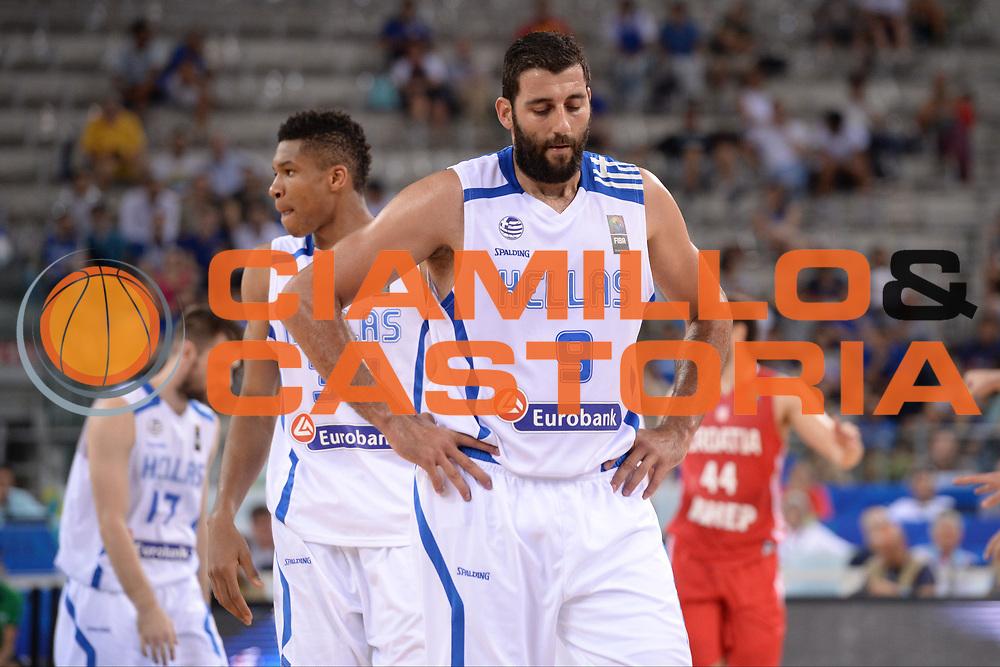 TORINO 08/07/2016<br /> BASKET Preolimpico<br /> GREECE GRECIA CROATIA CROAZIA<br /> NELLA FOTO Bourousis Ioannis<br /> FOTO CIAMILLO