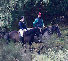 Prince Edward and daughter Lady Louise out Riding - 9 Sep 2018