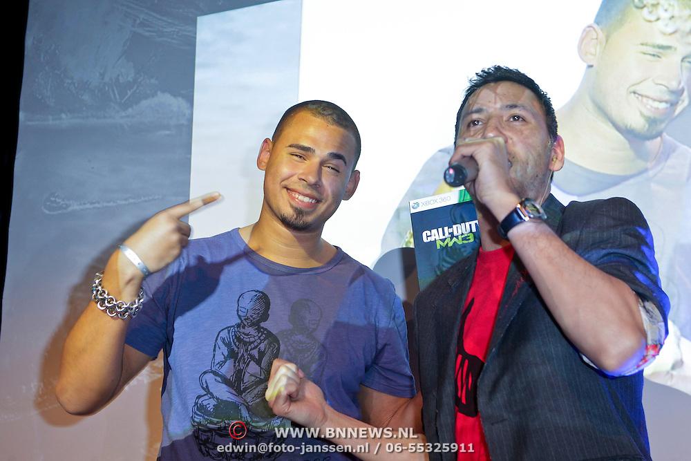 NLD/Amsterdam/20111107- Lancering Call of Duty MW3, DJ Afrojack, Nick van der Wall
