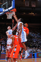North Carolina forward John Henson #31 and Syracuse forward Rick Jackson #0 battle for a rebound during the 2K Sports Classic at Madison Square Garden. (Mandatory Credit: Delane B. Rouse/Delane Rouse Photography)