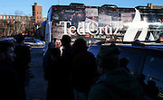 Republican presidential candidate, Sen. Ted Cruz's bus rolls in at Theo's Pizza and Restaurant in Manchester, N.H. Thursday, Jan. 21, 2016.  CREDIT: Cheryl Senter for The New York Times Ted Cruz