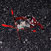 Matt Margetts of Canada competes in qualifying for the men's ski halfpipe at Rosa Khutor Extreme Park during the Winter Olympics in Sochi, Russia, Tuesday, Feb. 18, 2014. (Brian Cassella/Chicago Tribune/MCT)