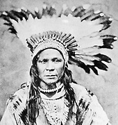 Chief Crow Flies High. North American Indian chief. From a photograph taken c1885-1890.