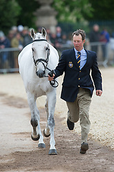 Albert Dag, (SWE), Tubber Rebel<br /> First Horse Inspection - Mitsubishi Motors Badminton Horse Trials <br /> Badminton 2015