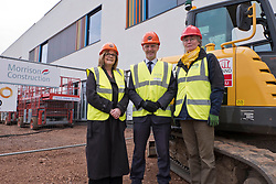 Pictured: Michael Matheson was joined by Chief Nurse Alison MacDonald and Cklinical Advisior and coimmissioning Manager, Marjo Van Weissel for his tour of the faciolities which will be fully open in September 2019<br /> <br /> Infrastructure Secretary Michael Matheson visited East Lothian Community Hospital's construction site today to give an update on the Scottish Government's infrastructure programme, on the same day as an annual progress report is published<br /> <br /> Ger Harley | EEm 17 April 2019