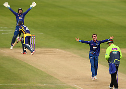 Gloucestershire's Tom Smith appeals for LBW - Mandatory by-line: Robbie Stephenson/JMP - 07966386802 - 04/08/2015 - SPORT - CRICKET - Bristol,England - County Ground - Gloucestershire v Durham - Royal London One-Day Cup