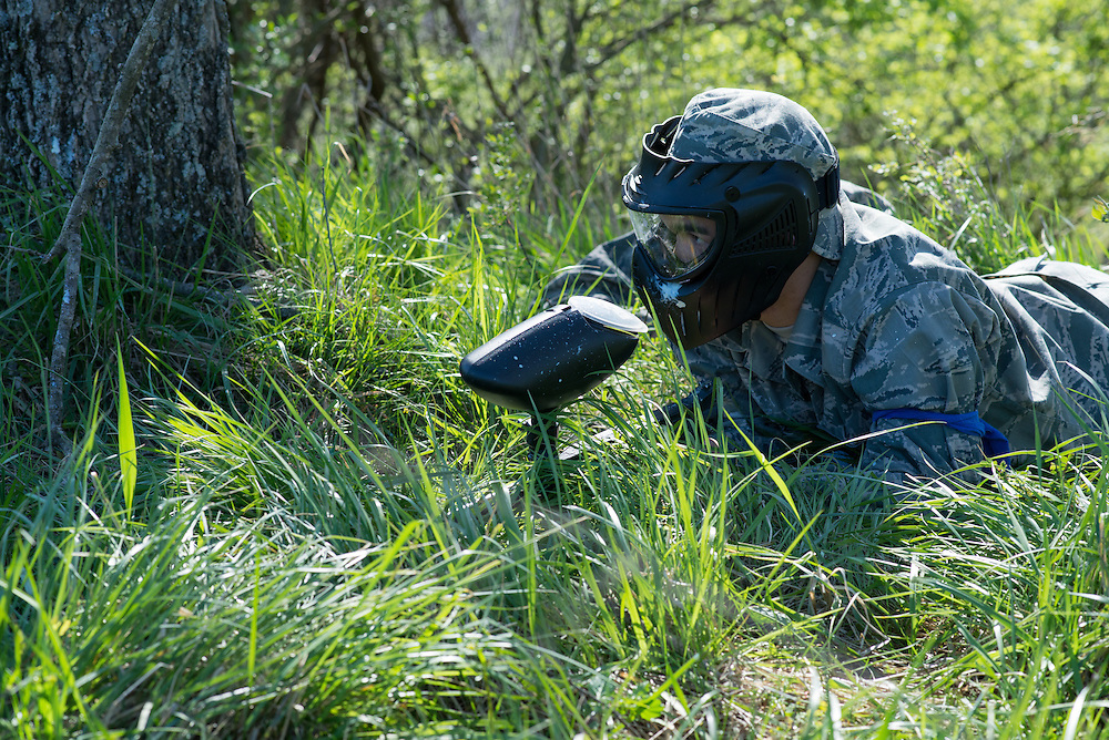 "Several cadets are left ""wounded"" after being ambused during the second checkpoint of their mobile exercise on April 16, 2016. Photo by Ohio University / Kaitlynn Stone"