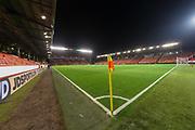 9th November 2017, Pittodrie Stadium, Aberdeen, Scotland; International Football Friendly, Scotland versus Netherlands; General view of Pittodrie Stadium, home of Aberdeen and venue for Scotland v Holland