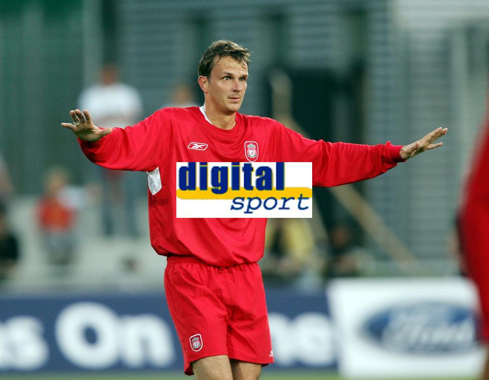 Fotball, 23. juli 2005, Privatkamp, Liverpool - Olympiacos 4-3, <br /> Dietmar Hamann, Liverpool<br /> Foto: Anders Hoven, Digitalsport