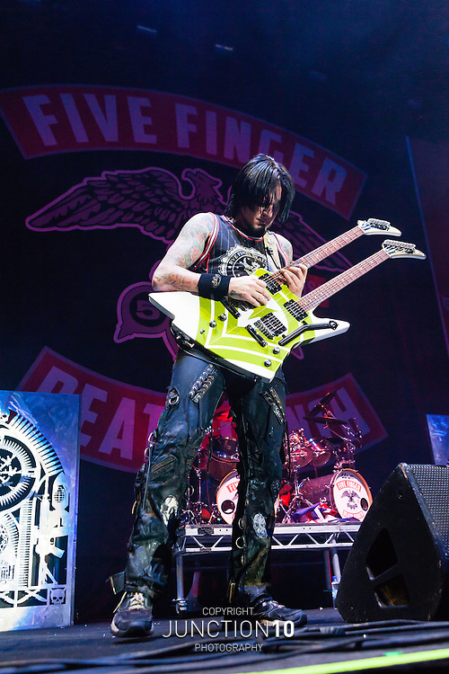 Five Finger Death Punch in concert at the LG Arena, Birmingham, United Kingdom<br /> Picture Date: 5 December, 2013
