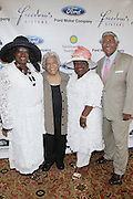 l to r: Yvonne Webster, Leah Chase, Barbara Lacen-Keller and Edward Dukey Chase at The Freedom's Sisters Luncheon sponsored by Ford Motors at The 2009 Essence Music Festival held at The New Orleans Marriott Convention Center on July 2, 2009 in New Orleans, Louisiana