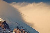 leading edge streaks of a Mount Rainier Lenticular cloud, Mount Rainier National Park, Washington, USA