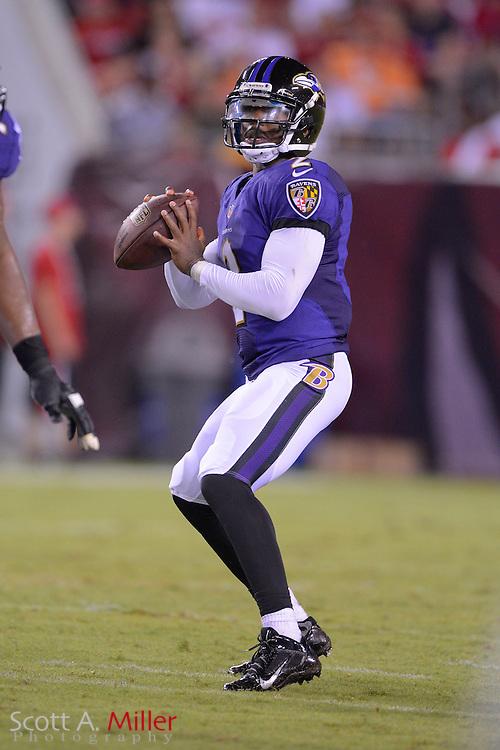 Baltimore Ravens quarterback Tyrod Taylor (2) during a preseason NFL game at Raymond James Stadium on Aug. 8, 2013 in Tampa, Florida. <br /> <br /> &copy;2013 Scott A. Miller