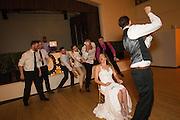 Bride and Groom celebrate their Catholic wedding at the Presidio in San Francisco, California, on July 1, 2016. (Stan Olszewski/SOSKIphoto)